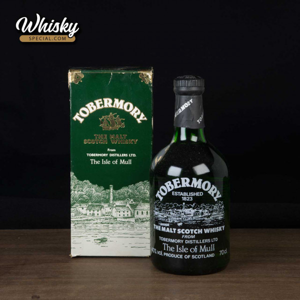 Tobermory, green bottle, front