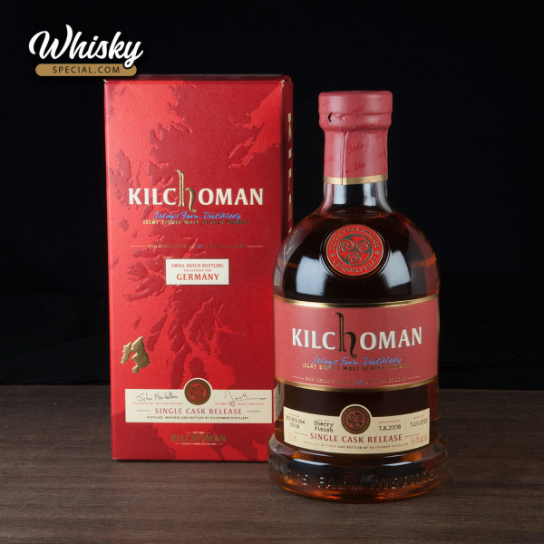 Kilchoman, Single Cask Release for Germany, 2008/ 2013, front